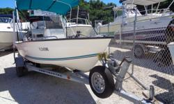 16 Key Largo with bimini top and trailer powered by a 2007 MECURY F60 4 stroke outboard engine made by Yamaha. Also included is a brand new 2017 continental trailer. Beam: 6 ft. 10 in. Hull color: white Stock number: kl1601