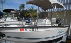 This Key Largo is a great boat to take out with a couple close friends for a day of fishing or to take the kids out for a day of cruising the water. The bimini top keeps you and your guests cool and shaded so there?s no need to worry about getting too hot