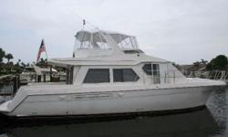 This low-hour 53' Navigator Pilothouse is in above average condition and ready to cruise. She features a rich cherry wood interior throughout, full width master stateroom, a large salon, and a spectacular view from wide windows all around. Her spacious