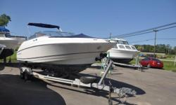 2001 Regal 2300 LSR SR Bow RiderVolvo 5.0 Gi Multi port fuel injection Engine with 22Hp764 HrsLoad Rite roller TrailerBow and Cockpit coverBimini topExtended swim platformFiberglass deck Bolster seatsPorta potti