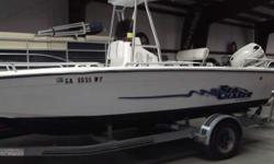 PRICE INCLUDES: JOHNSON 150 VXSIF, T-TOP, SST PROP, WASH DOWN, LOWRANCE LCX20, VHF RADIO, AM/FM CD - 2001 SEA CHASER 210 Nominal Length: 21' Stock number: CONSIGNMARTEEN