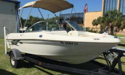 Includes Bimini, Garmin 441 GPS, Boat Cover, & trailer guide on. Nominal Length: 18.6' Engine(s): Fuel Type: Other Engine Type: Stern Drive - I/O Stock number: FL3684LJ