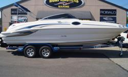 SOLD 2001 SEA RAY 240 SUNDECK with MERCRUISER 350 MAG! Beam: 8 ft. 4 in. Hull color: Blue White Stock number: Used 1333