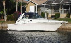 (LOCATION: Punta Gorda FL) This Sea Ray 340 Amberjack is a versatile, multi-purpose family cruiser with many features for the fisherman. It combines a spacious cockpit with a roomy interior to provide the perfect platform for the fisherman who appreciates
