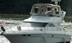 40' Sea Ray, 44' Sea Ray, 40' Sedan Bridge, 44' Sedan Bridge FRESHWATER - KEPT UNDER COVER - CUMMINS TURBO DIESELS - LOCATED ON NAVIGABLE WATERWAY European styling, combined with a spacious floorplan, makes this 2001 Sea Ray 400 Sedan Bridge an