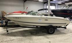 Perfect starter boat for cruising and water sports. Easy to trailer. Trades Considered. CANVAS BOW COVER - GRAY COCKPIT COVER ELECTRICAL BATTERY (1) ELECTRONICS CASSETTE COMPASS DEPTH FINDER STEREO AM/FM MECHANICAL BILGE BLOWER BILGE PUMP HOUR METER 190