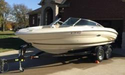 2001 Sea Ray Sundeck Series 190 This Sea Ray 190 is great for skiing cruising tubing partying or floating. Has a V-8 engine that has annually been winterized and had the fluids (oil and Hydraulics changed). Its in excellent condition and is ready now for