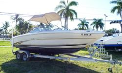 2001 Sea Ray 210 Signature Bow Rider Powered By A 5.0 Mercruiser. Long Block And Risers New Last November. Equipped With Bimini Top, Mooring Covers, Dive Ladder And Stereo. Nice Clean Boat!!! **** FRESH BOTTOM PAINT, WATER READY!!! **** Trailer Not