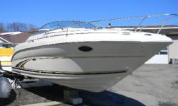 *** W/MERCRUISER 5.0 EFI BIII/BIMINI-CP COVER/NO BOTTOM PAINT/ *** SeaRay has this offering for the day cruiser, overnighter or weekending boater. This cuddy cabin is in very nice condition inside and out and is a fresh water boat! The cockpit is well
