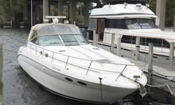 Very popular model with Cherry interior and 8.1 Liter Mercruiser V-drives with only 620 hours. Generator, A/C, Icemaker in the Cockpit, Radar, GPS and Autopilot. Trades considered. Engine(s): Fuel Type: Gas Engine Type: Inboard Quantity: 2