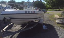 THIS 2001 SEASWIRL IS POWERED BY A JOHNSON 90HP MOTOR AND INCLUDES A VENTURE ROLLER TRAILER. ALSO HAS A LIVEWELL, SALT WATER WASH DOWN, FISH FINDER AND COVER. WILL NOT LAST LONG AT THIS PRICE! Beam: 7 ft. 6 in.