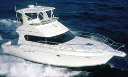 A beautiful example of a convertible yacht with the amenities of a sedan bridge. Two Staterooms with queen berths, Air Conditioned Flybridge & Interior, Garmin GPS/Radar/Fishfinder, Flo-Scans, 8kW Kohler Generator. 2nd Owner with 90hrs on it