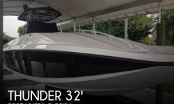 Actual Location: Fort Myers, FL - Stock #098476 - RARE Center Console Power CatThis 2001 Thunder CAT 32 is in great condition. It has been well-maintained by its owner and is currently stored on a covered boat lift. The Thunder CAT is powered by twin