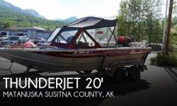 Actual Location: Wasilla, AK - Stock #101318 - If you are in the market for a jet, look no further than this 2001 Thunderjet 20 Sportsman, priced right at $26,700 (offers encouraged).This boat is located in Wasilla, Alaska and is in great condition. She