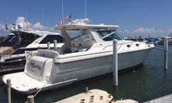 Very spacious and luxurious 40'. Huge salon for entertaining and plenty of storage. Mid-cabin stateroom has its own head. This boat has been maintained professionally and kept very clean. Trades considered. CANVAS AFT DECK HARDTOP HARDTOP, COCKPIT