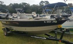 Very clean! Includes Lowrance Hook 4, Minnkota 74lb Trolling Motor, Front Anchor, Jensen AM/FM Radio, compass, & swing away tongue Nominal Length: 18.5' Length Overall: 18' Engine(s): Fuel Type: Other Engine Type: Outboard Beam: 8 ft. 0 in. Fuel