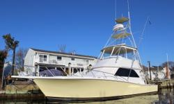 2001 Viking 43 Convertible with MAN DE 2848 LE 403 800 hp Diesels 1780 Hrs total - 100 Since Major Overhaul Starboard Engine has been completely Replaced with 100 hrs Port Engine was FULL MAN 1000 hr Service Completed - Records available Full Tuna Tower -