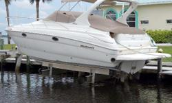 Twin Mercruiser 8.1 Horizon Freshwater Cooled Engines New in 2014 with under 140hrs, 7.3kW Kohler Generator under 55hrs, Air Conditioning/Heat, Electric Windlass, Garmin GPS/Chart/Fish Finder, SmartCraft Gauges installed 2014, Sleeps 6, Lift Kept Nominal