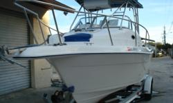 2002 COBIA 25 WALK AROUND W YAMAHA 225 FOUR STROKE OUTRIGGERS COBIA LOOKOUT STATION VHF, FISHFINDER, THIS RIG IS READY FOR OFFSHORE. Category: Powerboats Water Capacity:  Type: Walk Around Holding Tank Details:  Manufacturer: Cobia Boats Holding Tank