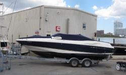 MOTIVATED SELLER THAT WANTS THIS ONE GONE ASAP!!  She's powered by a single Volvo 5.7 280hp duo-prop with low hours and all maintenance done and no services needed. Her options list is long, and notable features include a stepped hull, power