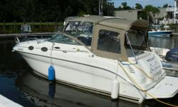 The Sea Ray 260 Sundancer sets the standard for Trailerable Express Cruisers; solid Sea Ray construction, awesome use of space, great accomodations and head room below decks. It is easy to see that this is a smaller product from a company known for