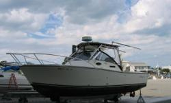 Ready for the season.Dry stored. Priced for immediate sale.This proven fishing machine isready to cruise and fish the bay or offshore canyons, or overnight in your favorite cove.Powered by economical twin Yanmar 4LHA-STP240