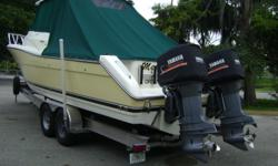 Description Step aboard Mae Be II and the first thing you will note is a well maintained well laid out boat that has more space than you might be use to in a 30' vessel. She is completely accommodating whether cruising serious fishing or diving with
