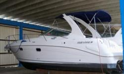 Sleek styling, spacious cabin versatile deck layout!!!! Great for Family & Entertaining!!! New risers and elbows!!! New cockpit seats!!!  Clean low hour express that is under cover dry stored, Comfortable accommodations for 6, Twin Volvo 280HP GSI