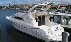 One of the most desirable Sea Ray models ever built. This boat features the 2 statroom layout with the large salon and the washer/dryer. Walk trough bridge to bow makes this a very safe boat for children and seniors. The walk trough also allows for a full