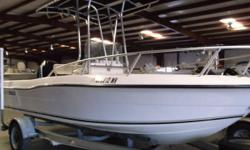 PRICE INCLUDES: MERCURY 150XL, T-TOP, HUMMINBIRD 640, LOWRANCE M56, AM/FM RADIO, WASHDOWN, AND SPARE. - 2002 ANGLER 180CC Nominal Length: 18' Stock number: 56109A