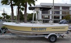 2002 - Aquasport - 200 Osprey, T-top, 115 Yamaha, Trailer, Full Custom Cover, GPS, VHF, Stereo. $10,900.00 Antonietti Marine 727-862-0776 Beam: 7 ft. 7 in.