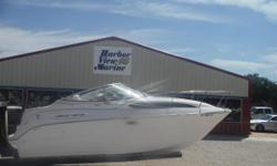 Bayliner 2455 Ciera on the Florida / Alabama Gulf Coast. In the cockpit you will find plenty of seating with a re configurable seating arrangement. The Mercruiser gas power 5.0L motor is new! Not rebuilt. NEW! The cabin can accommodate up to four