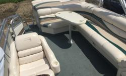 This Bennington is equipped with the following: Stereo Bimini Top New Custom Mooring Cover Docking Lights Yamaha 115 Hp is a 2010 model year Beam: 8 ft. 6 in. Boat cover; Stereo; Bimini top;