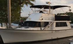 1981 Mainship 40-FT Pilot House Twin Perkins 165 Diesels Brand new Stainless Steel Risers Rebuilt Turbochargers 8000 watt generator Two brand new Anchors and Winch Refurbished Interior and Upper Deck with brand new Canvas Electronics all in working