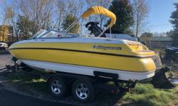 Hard to find high quality Bow Rider, this 2002 Bryant shows its fit/finish superiority and is in great shape. Boasts all of the goodies any discerning used boat shopper could ever hope for, big power with low hours 6.2 Merc 320HP and Bravo I drive,