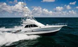 """""""Lady Hilkka"""" is a one owner 47' Cabo Flybridge 2002 that is in beautiful condition and has been heavily updated. She's been captain-maintained and has the biggest engine package available: 1,050HP MANs with under 1950hrs (topside rebuilds completed in"""
