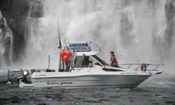 2002 CAMPION EXPLORER 672 This boat was repowered in 2006, presently powered by a 4 stroke 225 Honda and a 9.9 Honda 4 Stroke kicker, Very good on fuel.2 Scotty Electric Downriggers, 23 foot Hard top with full Bimini covers, Tandem Axle E-Z Loader