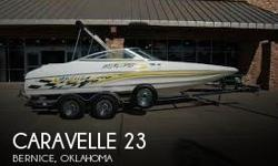 Actual Location: Bernice, OK - Stock #049344 - the ultimate sportboat, Loud and ProudThe Carvelle 232 delivers the ultimate sportboat experience with its V8 engine and deep-vee hull that pushes this boat to a speedy 57 mph. She offers good seating and
