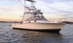 2002 28 Express with tower and fresh rebuilt twin volvo 230 hp diesels. High end array of electronics including- Garmin 6212 and 5208 GPS, Sonar, HD Radar combos at helm. Garmin 3205 with GSD 26 Fish finder up in the tower. Airmar R199 Transducer, ACR/AIS