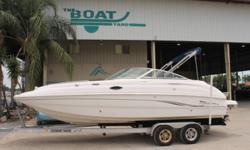SOLD 2002 Chaparral 233 Sunesta Deck Location: Marrero, LA, US ? MerCruiser 5.0 MPI with 308 hours and Alpha One outdrive ? 2014 Magic Tilt aluminum tandem axle trailer This boat is a great family boat. It has plenty of seating and storage as well as a