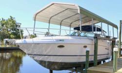 (LOCATION: Fort Myers FL) The Chaparral 350 Signature is a full-featured family cruiser with style, luxurious accommodations, and performance. She features a large open cockpit with ample seating and a spacious mid-cabin interior. Whether you are planning