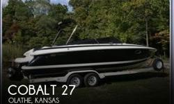 Actual Location: Olathe, KS - Stock #101247 - ONLY 425 HOURS ON A 496 MAG HO (425 HP)- BRAVO 3 X DRIVES ~ CAPTAINS CALL ~ KEVLAR REINFORCED HULL~ EAGLE TANDEM AXLE TRAILER INCLUDED!!!You are looking at a very well cared for 2002 Cobalt 263 Cuddy Cabin.