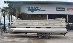 2002 Crest Pontoons Crest III Classic, 2016 115CT, Contact Logan at: 337-380-1566 BoatyardLogan@gmail.comWe offer competitive financing and take trades!2002 Crest Classic IIITandem axle galvanized trailer2016 Mercury 115 CT with 60 hours Nominal Length: