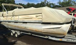 2002 Crest III 25ft New 2016 Mercury 115 Outboard 4-stroke Dixie Kraft Trailer, Tandem Axle Beam: 8 ft. 6 in.