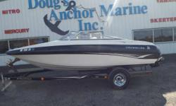 2002 Crownline 180BR, Mercruiser 4.3L, Sony Stereo, Cover, 2 Chairs, Back Bench Seating, Front Bench Seating, Side Storage, Storage Under Bench Seating, Boarding Ladder, 2002 Prestige Trailer. - 2002 CROWNLINE 180BR Nominal Length: 18' Engine(s): Fuel