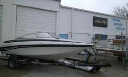 2002 Crownline 180BR, 4.3L V6 190hp Mercruiser motor, Full cover, Prestige trailer, all toys go with the boat. Tubes and some life jackets. Average condition. Skeg on lower units is shaved off. A few scratches. View all photos at www.omahamarinecenter.com