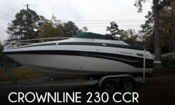 Actual Location: Reevesville, SC - Stock #087053 - If you are in the market for a cuddy cabin, look no further than this 2002 Crownline 230 CCR, just reduced to $26,300 (offers encouraged).This boat is located in Reevesville, South Carolina and is in