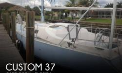 Actual Location: Fort Myers, FL - Stock #064403 - If you are in the market for a cruiser sailboat, look no further than this 2002 Custom 37, just reduced to $15,000 (offers encouraged).This vessel is located in Fort Myers, Florida and is in good