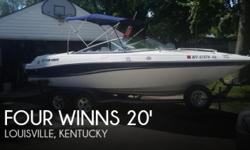 Actual Location: Louisville, KY - Stock #102546 - If you are in the market for a bowrider, look no further than this 2002 Four Winns 210 Horizon, just reduced to $18,000 (offers encouraged).This boat is located in Louisville, Kentucky and is in great