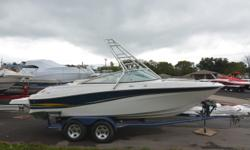 2002 Four Winns 220 HorizonVolvo Penta v-8, 5.7 GXi (260Hp) and sx drive335 hrsWalk thru transomExtended swim platformam/fm cdTandem trailer with custom wheels and new tiresNew dash panelsAll new upholsteryWake tower (Big Joe brand).